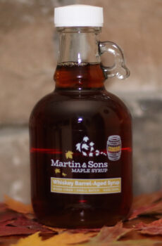 Martin and Sons Whiskey Barrel-Aged Maple Syrup, 250 ml